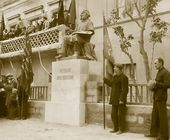 The unveiling of the monument to Ivan Aivazovsky next to the main façade of the Aivazovsky Picture Gallery. May 2 1930