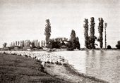 The Subash lake at Aivazovsky's Shakh-Mamai estate. 1900s