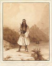 IVAN AIVAZOVSKY. Polycar on Mount Athos. 1845