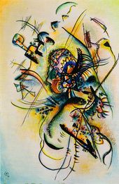 "WASSILY KANDINSKY. Composition J. ""To the Unknown Voice"". 1916"