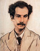 LÉON BAKST. Portrait of Andrei Bely. 1905
