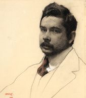 LÉON BAKST. Portrait of Konstantin Somov. 1906