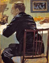 BORIS KUSTODIEV. Portrait of Léon Bakst. 1910