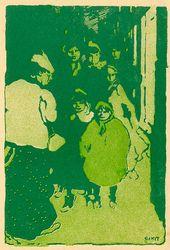 """LÉON BAKST. A Street. The """"Dogrose"""" Almanac. 1907"""