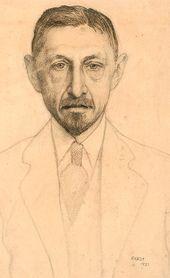 LÉON BAKST. Portrait of Ivan Bunin. 1921