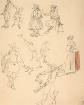 "ALEXEI SHCHUSEV. Preliminary sketch of costumes for ""The Sisters Gérard"". 1926–1927"