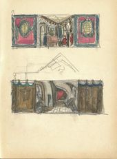 "ALEXEI SHCHUSEV. Sketch of set design for ""The Sisters Gérard"". 1926–1927"