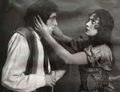 "A scene from the play ""The Sisters Gérard"". Louise – Raisa Molchanova, Pierre – Iosif Rayevsky. 1927"