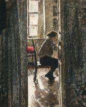 Г.С. ВЕРЕЙСКИЙю. За шитьем. 1926. Фрагмент
