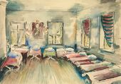 BORIS RYBCHENKOV. Children's Nursery at a Ukrainian Collective Farm. 1930BORIS RYBCHENKOV. Children's Nursery at a Ukrainian Collective Farm. 1930