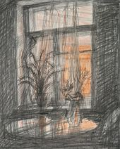 TATYANA SHISHMAREVA. Evening. Light in the Window. 1979