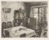 NIKITA RODIONOV. Interior with a Christmas Tree. 1982