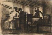LEV ZHEGIN. An Interior Scene. 1924