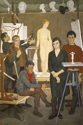 Group Portrait of Student Sculptors. 1964