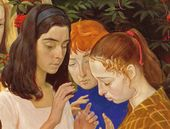 Sunday. 1973. Detail. Katya Fyodorova, Anya Merkulova, Natasha Shakhovskaya