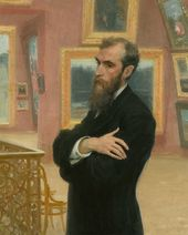 Ilya REPIN. Portrait of Pavel Tretyakov. 1901. Фрагмент