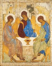 Andrei RUBLEV. The Old Testament Trinity. 1422-1427