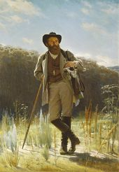 Ivan KRAMSKOI. Portrait of Ivan Shishkin. 1873