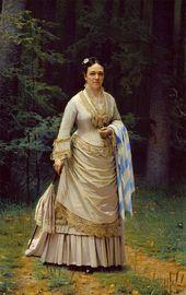 Ivan KRAMSKOI. Portrait of Vera Tretyakova. 1876