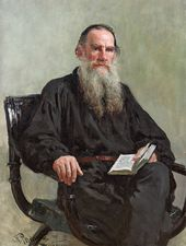 Ilya REPIN. Portrait of Lev Tolstoy. 1887