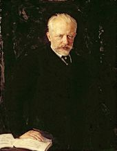 Nikolai KUZNETSOV. Portrait of Pyotr Ilyich Tchaikovsky. 1893