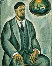 Pyotr KONCHALOVSKY. Self-portrait in Grey. 1911