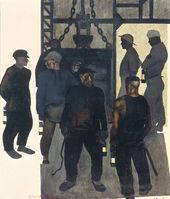 Alexander DEINEKA. Before Going Down a Mine. 1925