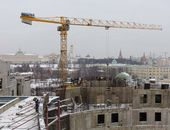 Construction of the new Tretyakov Gallery building on Kadashevskaya Embankment. Photo: E. Alexeev