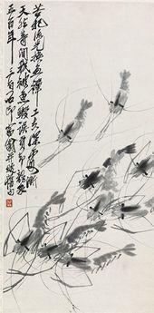 QI BAISHI. Shrimps