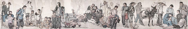 JIANG ZHAOHE. Refugees. 1943