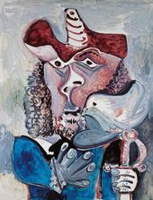 PABLO PICASSO. An Infantry with a Pigeon. 1971