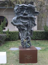 SALVADOR DALI. A Faun's Head and Horns. Sculpture. 1974