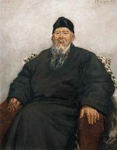 WU ZUOREN. A Portrait of Qi Baishi. 1954