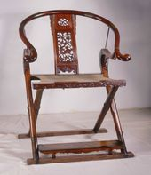 Yellow Rosewood Armchair with a Round Back. Ming Dynasty (1368-1644)