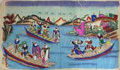 Folk painting 'Guan Sheng Captured in the Backwaters of the Lianshan River'. Late 19thearly 20th centuries