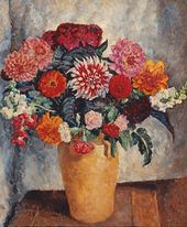 Ilya MASHKOV. Bright Bouquet Against a Dark Background. 1936