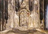Mikhail KURILKO-RYUMIN. Stage design sketch for the opera 'The Queen of Spades'. 1997