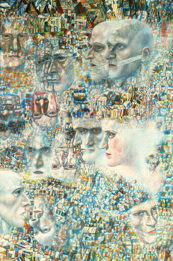 Pavel FILONOV. Heads. Symphony 4 by Shostakovich. 1927