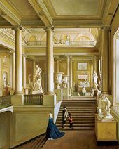 IVAN IVANOV. Main Staircase at the Academy of Arts. 1830