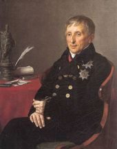 ALEXANDER VARNEK. Portrait of the President of the Imperial Academy of Arts, Alexei Olenin