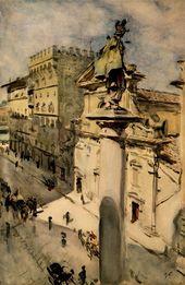 VALENTIN SEROV. Via Tornabuoni in Florence. 1904