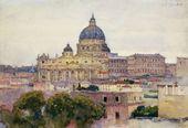 VASILY SURIKOV. St. Peter's Basilica in Rome 1884