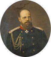 NIKOLAI SHILDER. Portrait of Alexander III (1845-1894)