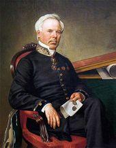 FYODOR SCHWEDE. Portrait of Fyodor Iordan. 1864