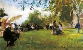 ILYA REPIN. At the Academy (Academicheskaya) Dacha. 1898