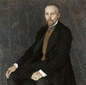 ALEXANDER GOLOVIN. Portrait of Nicholas Roerich. 1907