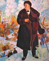 BORIS KUSTODIEV. Portrait of Feodor Chaliapin. 1921