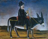 NIKO PIROSMANI. Town-Dweller on a Donkey
