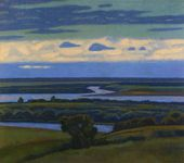 VIKTOR IVANOV. Sunset over the River Oka