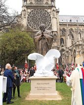 The ceremony of unveiling the monument to St. John-Paul II. Paris. 2014